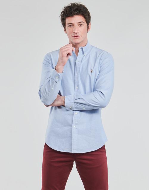 Υφασμάτινα Άνδρας Πουκάμισα με μακριά μανίκια Polo Ralph Lauren LORENZ Μπλέ
