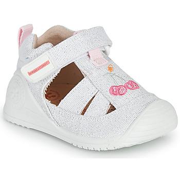 Παπούτσια Κορίτσι Σανδάλια / Πέδιλα Biomecanics 212213 Silver / Άσπρο