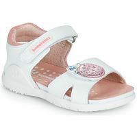 Παπούτσια Κορίτσι Σανδάλια / Πέδιλα Biomecanics 212163 Άσπρο / Ροζ