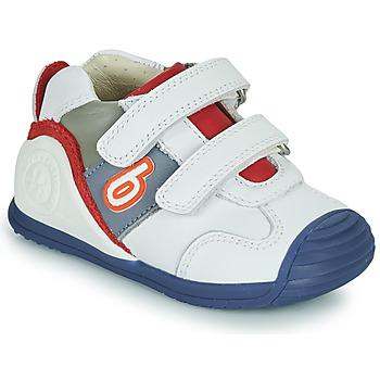 Παπούτσια Αγόρι Χαμηλά Sneakers Biomecanics 202148 Άσπρο / Μπλέ / Red