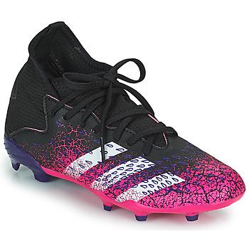 Παπούτσια Παιδί Ποδοσφαίρου adidas Performance PREDATOR FREAK .3 F Black / Ροζ