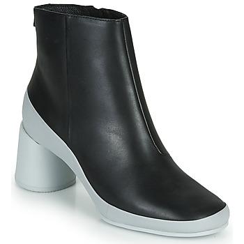 Παπούτσια Γυναίκα Μποτίνια Camper UPRIGHT Black / Άσπρο