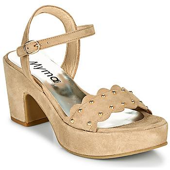 Παπούτσια Γυναίκα Σανδάλια / Πέδιλα Myma POULIDOU Taupe