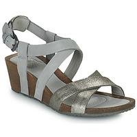 Παπούτσια Γυναίκα Σανδάλια / Πέδιλα Teva MAHONIA WEDGE CROSS STRAP ML Grey / Μεταλικό