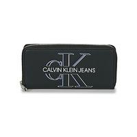 Τσάντες Γυναίκα Πορτοφόλια Calvin Klein Jeans ZIP AROUND GLOW Black