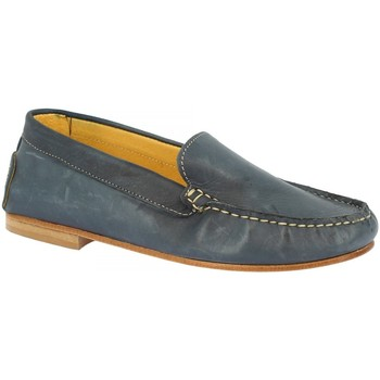 Μοκασσίνια Leonardo Shoes 500 VITELLO BLU