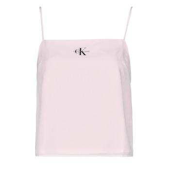 Υφασμάτινα Γυναίκα Μπλούζες Calvin Klein Jeans MONOGRAM CAMI TOP Ροζ