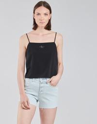Υφασμάτινα Γυναίκα Μπλούζες Calvin Klein Jeans MONOGRAM CAMI TOP Black