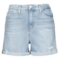 Υφασμάτινα Γυναίκα Σόρτς / Βερμούδες Calvin Klein Jeans MOM SHORT Μπλέ /  clair