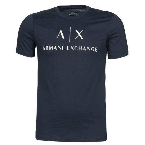 Υφασμάτινα Άνδρας T-shirt με κοντά μανίκια Armani Exchange 8NZTCJ-Z8H4Z Marine