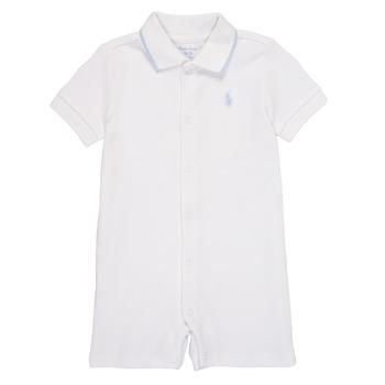 Υφασμάτινα Αγόρι Ολόσωμες φόρμες / σαλοπέτες Polo Ralph Lauren TONNY Άσπρο