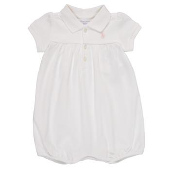 Υφασμάτινα Κορίτσι Ολόσωμες φόρμες / σαλοπέτες Polo Ralph Lauren SIMONE Άσπρο