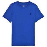 Υφασμάτινα Αγόρι T-shirt με κοντά μανίκια Polo Ralph Lauren ELIVA Μπλέ / Saphir