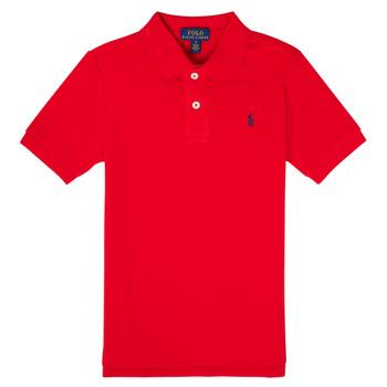 Υφασμάτινα Αγόρι Πόλο με κοντά μανίκια  Polo Ralph Lauren MENCHI Red