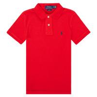 Υφασμάτινα Αγόρι Πόλο με κοντά μανίκια  Polo Ralph Lauren FRANCHI Red