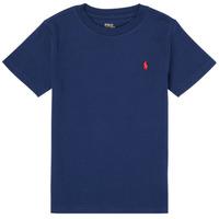 Υφασμάτινα Αγόρι T-shirt με κοντά μανίκια Polo Ralph Lauren TINNA Marine