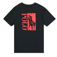 Υφασμάτινα Αγόρι T-shirt με κοντά μανίκια Polo Ralph Lauren CROPI Black