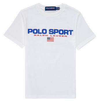 Υφασμάτινα Αγόρι T-shirt με κοντά μανίκια Polo Ralph Lauren DRONI Άσπρο