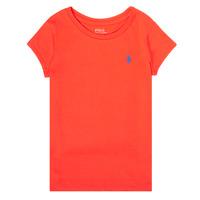 Υφασμάτινα Κορίτσι T-shirt με κοντά μανίκια Polo Ralph Lauren SIDONIE Red