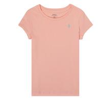 Υφασμάτινα Κορίτσι T-shirt με κοντά μανίκια Polo Ralph Lauren SIDONIE Ροζ