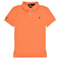 Υφασμάτινα Αγόρι Πόλο με κοντά μανίκια  Polo Ralph Lauren POLLIE Orange