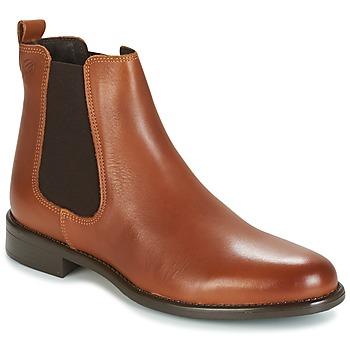 Παπούτσια Γυναίκα Μπότες Betty London NORA Camel