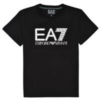 Υφασμάτινα Αγόρι T-shirt με κοντά μανίκια Emporio Armani EA7 3KBT53-BJ02Z-1200 Black
