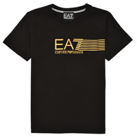 Υφασμάτινα Αγόρι T-shirt με κοντά μανίκια Emporio Armani EA7 3KBT54-BJ02Z-1200 Black / Gold
