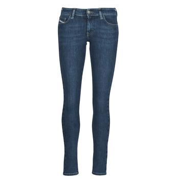Υφασμάτινα Γυναίκα Skinny jeans Diesel SLANDY-LOW Μπλέ / Medium