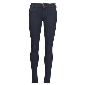 Υφασμάτινα Γυναίκα Skinny jeans Diesel SLANDY Μπλέ / Fonce