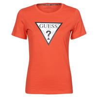 Υφασμάτινα Γυναίκα T-shirt με κοντά μανίκια Guess SS CN ORIGINAL TEE Red