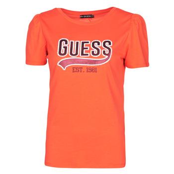 Υφασμάτινα Γυναίκα T-shirt με κοντά μανίκια Guess SS CN MARISOL TEE Red