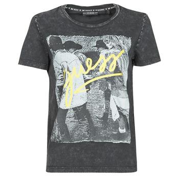 Υφασμάτινα Γυναίκα T-shirt με κοντά μανίκια Guess SS CN PAULA TEE Black