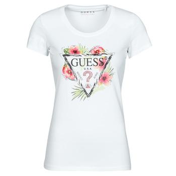 Υφασμάτινα Γυναίκα T-shirt με κοντά μανίκια Guess SS CN REBECCA TEE Άσπρο / Multicolour