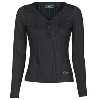 Υφασμάτινα Γυναίκα Μπλουζάκια με μακριά μανίκια Guess LS URSULA TOP Black