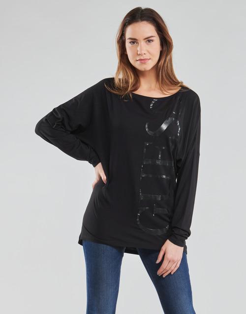 Υφασμάτινα Γυναίκα Μπλουζάκια με μακριά μανίκια Guess LS KAROLINA TEE Black