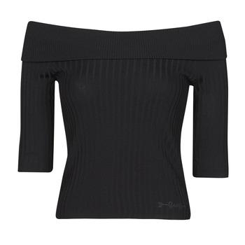 Υφασμάτινα Γυναίκα Μπλουζάκια με μακριά μανίκια Guess DAYNA OFF SHOULDER SWTR Black