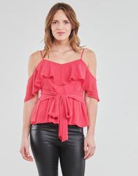 Υφασμάτινα Γυναίκα Μπλούζες Guess SL PAULINA TOP Ροζ