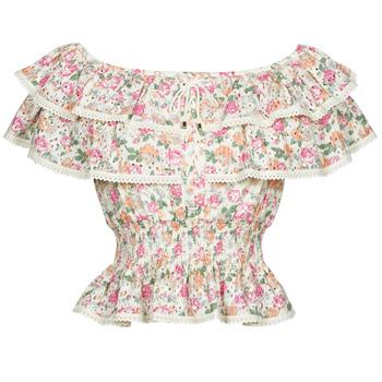 Υφασμάτινα Γυναίκα Μπλούζες Guess SS NEW ISOTTA TOP Ροζ
