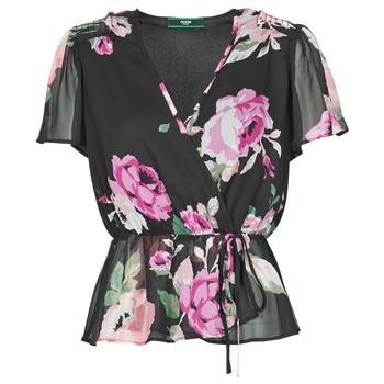 Υφασμάτινα Γυναίκα Μπλούζες Guess SS NEREA TOP Black / Multicolour