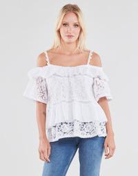 Υφασμάτινα Γυναίκα Μπλούζες Guess SS NEW OLIMPIA TOP Άσπρο