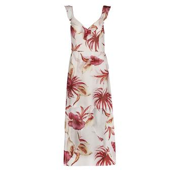 Υφασμάτινα Γυναίκα Μακριά Φορέματα Guess CORA DRESS Multicolour / Άσπρο