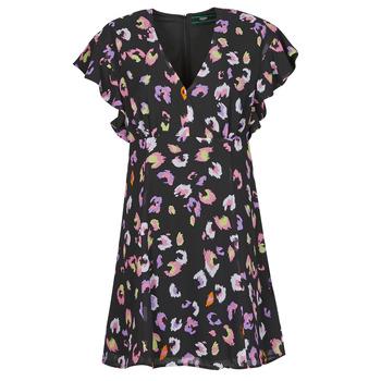 Υφασμάτινα Γυναίκα Κοντά Φορέματα Guess AYAR DRESS Black / Multicolour