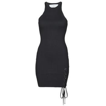 Υφασμάτινα Γυναίκα Κοντά Φορέματα Guess ALEXA TIE DRESS Black