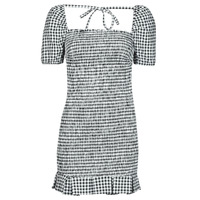 Υφασμάτινα Γυναίκα Κοντά Φορέματα Guess AIDA  DRESS Black / Άσπρο