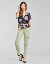 Υφασμάτινα Γυναίκα παντελόνι παραλλαγής Guess SEXY CARGO PANT Green