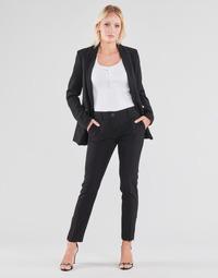 Υφασμάτινα Γυναίκα Παντελόνια Πεντάτσεπα Guess ZOE PANTS Black