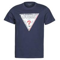 Υφασμάτινα Άνδρας T-shirt με κοντά μανίκια Guess TRIESLEY CN SS TEE Marine