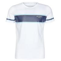 Υφασμάτινα Άνδρας T-shirt με κοντά μανίκια Guess CN SS TEE Άσπρο / Marine