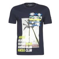 Υφασμάτινα Άνδρας T-shirt με κοντά μανίκια Guess GUESS CLUB CN SS TEE Marine